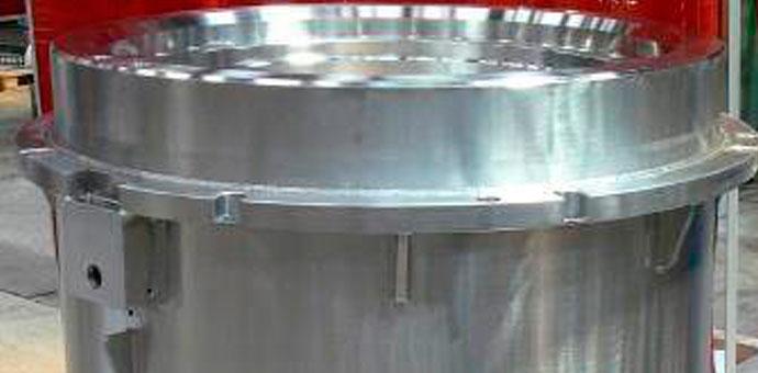 Kontejneri za nuklearni otpad (37 komada) / materijal X2CrNiMo 18-9 / mesto isporuke: Francuska